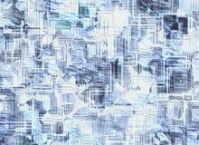 Футуристические абстрактные предпосылки цифровая картина схемы иллюстрация вектора