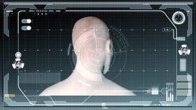Футуристические диаграммы интерфейса и гуманоида видеоматериал