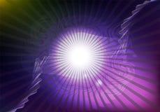 Футуристические накаляя нашивки и кривые Фиолетовое illustratio вектора иллюстрация штока
