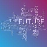 Футуристические слова заволакивают о времени, будущем, жизни Стоковые Фотографии RF