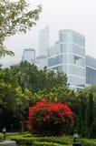 Футуристический город Гонконг Стоковое фото RF