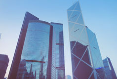 Футуристический город Гонконг Стоковое Фото