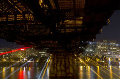 Футуристический городской пейзаж Портленда Орегона Стоковое Фото