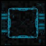 Футуристический графический пользовательский интерфейс Стоковое Изображение