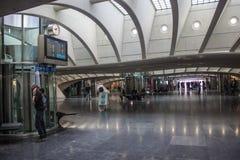 Футуристический железнодорожный вокзал liege-Guillemins Стоковая Фотография RF