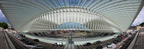 Футуристический железнодорожный вокзал liege-Guillemins Стоковое фото RF