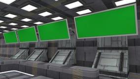 Футуристический зеленый экран Стоковая Фотография RF