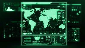 Футуристический интерфейс центра управления (петля готовая) акции видеоматериалы