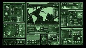 Футуристический интерфейс центра управления (петля готовая) сток-видео