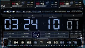 Футуристический интерфейс экрана кода времени сток-видео