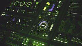 Футуристический интерфейс | HUD | Экран цифров акции видеоматериалы