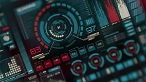 Футуристический интерфейс | HUD | Экран цифров видеоматериал