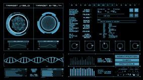 Футуристический интерфейс   HUD   Экран цифров сток-видео