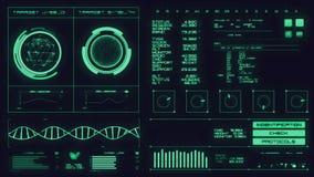 Футуристический интерфейс   HUD   Экран цифров акции видеоматериалы