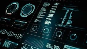 Футуристический интерфейс   HUD   Экран цифров видеоматериал