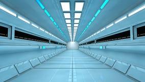 Футуристический интерьер коридора Стоковая Фотография