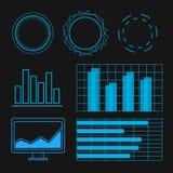 Футуристический комплект элементов пользовательского интерфейса Знамя сети, абстрактный бар Стоковое фото RF
