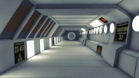 Футуристический коридор архитектуры предпосылки Стоковые Фото