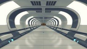 Футуристический коридор архитектуры предпосылки Стоковая Фотография