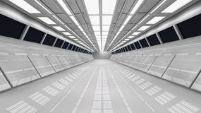 Футуристический коридор Стоковое фото RF