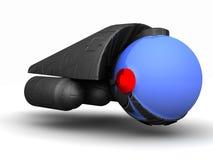 Футуристический космический летательный аппарат многоразового использования чужеземца стоковое фото rf