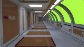 Футуристический космический корабль чужеземца залы Стоковые Изображения RF