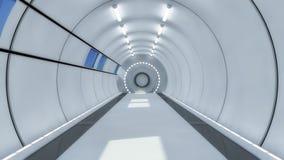 Футуристический космический корабль чужеземца залы Стоковое Фото