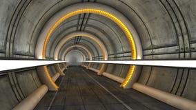 Футуристический космический корабль чужеземца залы Стоковое фото RF
