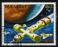 Футуристический космический корабль Стоковое Изображение