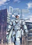 футуристический космос воина пехоты Стоковые Изображения