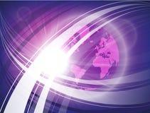 Футуристический космос выравнивается с землей планеты, кругами atlanta иллюстрация вектора