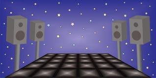 Футуристический космос партии ночи танца Стоковое фото RF