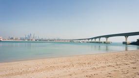 Футуристический монорельс в Дубай Стоковые Фото