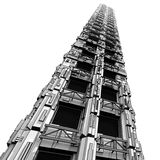 футуристический небоскреб Бесплатная Иллюстрация