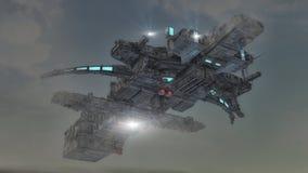 Футуристический неопознанный летающий объект Стоковые Фото