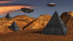 Футуристический неопознанный летающий объект Стоковое Изображение RF