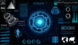 Футуристический пользовательский интерфейс Sci Fi современный бесплатная иллюстрация