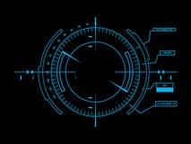 Футуристический пользовательский интерфейс HUD Стоковые Изображения RF
