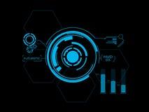Футуристический пользовательский интерфейс HUD Стоковое Изображение