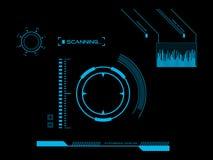Футуристический пользовательский интерфейс HUD Стоковое Изображение RF