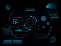 Футуристический пользовательский интерфейс HUD Стоковые Фотографии RF