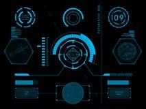 Футуристический пользовательский интерфейс HUD Стоковое фото RF