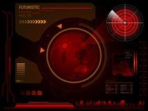 Футуристический пользовательский интерфейс HUD Стоковые Изображения