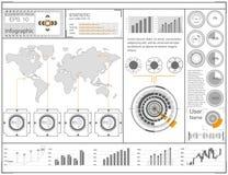 Футуристический пользовательский интерфейс HUD UI Абстрактный виртуальный графический пользовательский интерфейс касания Космичес Стоковая Фотография