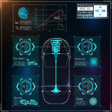 Футуристический пользовательский интерфейс HUD UI Абстрактный виртуальный графический пользовательский интерфейс касания Автомоби Стоковые Изображения