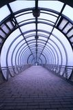футуристический стеклянный тоннель Стоковые Изображения RF