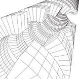 Футуристический тоннель конструкции сетки wireframe низкой поли Стоковое Фото