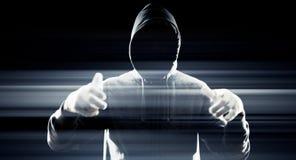 Футуристический хакер рубя безопасность системы Стоковое Изображение