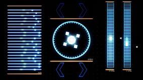 Футуристический экран цифрового интерфейса с идущей компьютерной программой r Абстрактное действуя применение системы дальше бесплатная иллюстрация