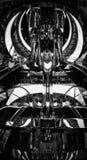 Футуристический эпицентр деятельности в черно-белом на торговом центре в Сиднее стоковая фотография